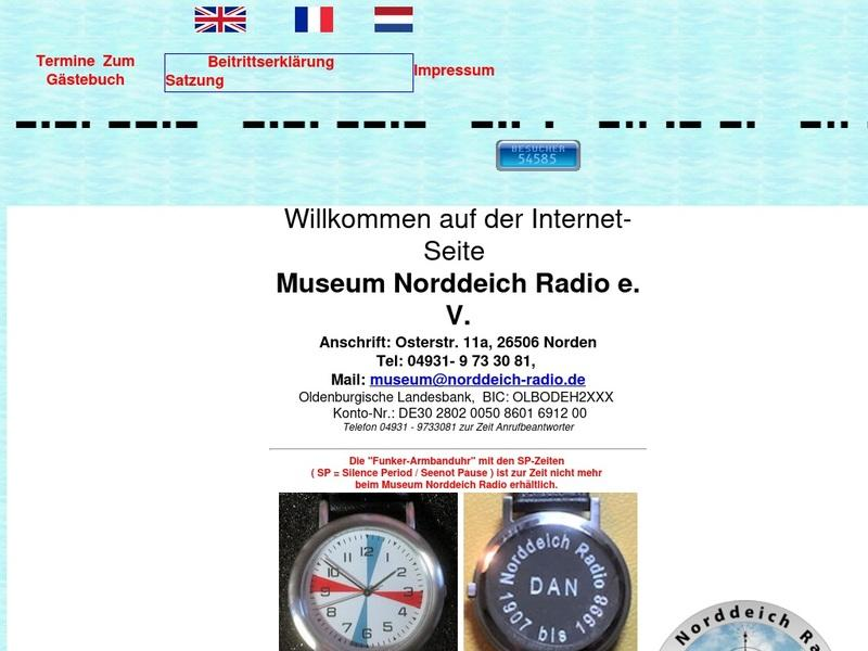 Screenshot von www.norddeich-radio.de