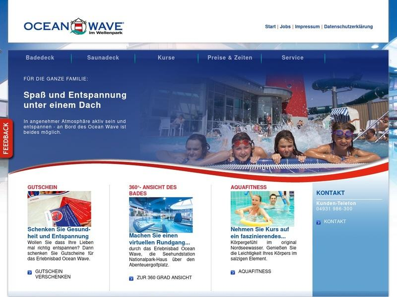Screenshot von www.ocean-wave.de